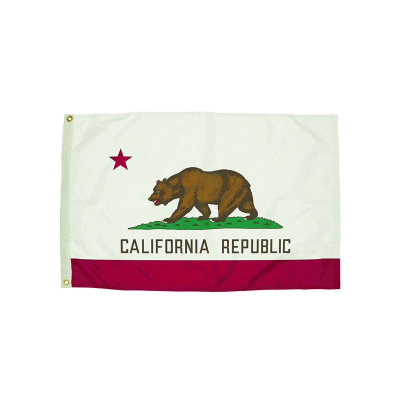 3X5 NYLON CALIFORNIA FLAG HEADING &
