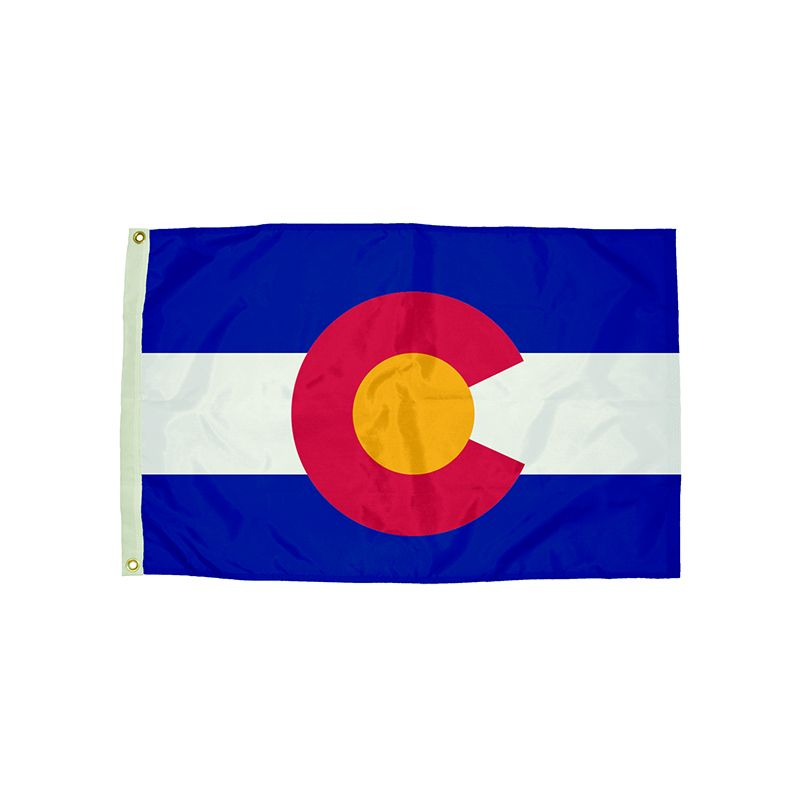3X5 NYLON COLORADO FLAG HEADING &