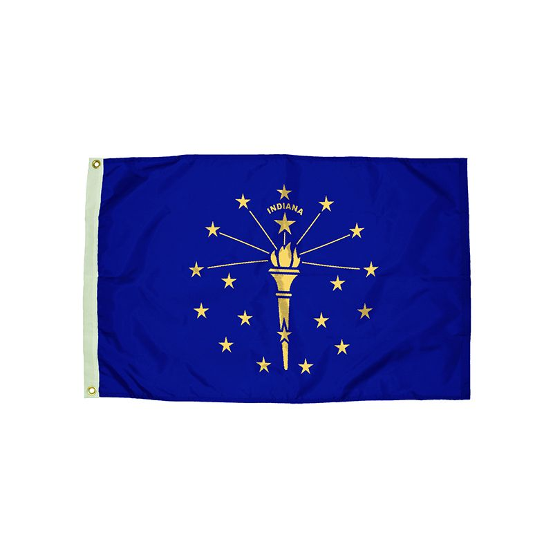 3X5 NYLON INDIANA FLAG HEADING &