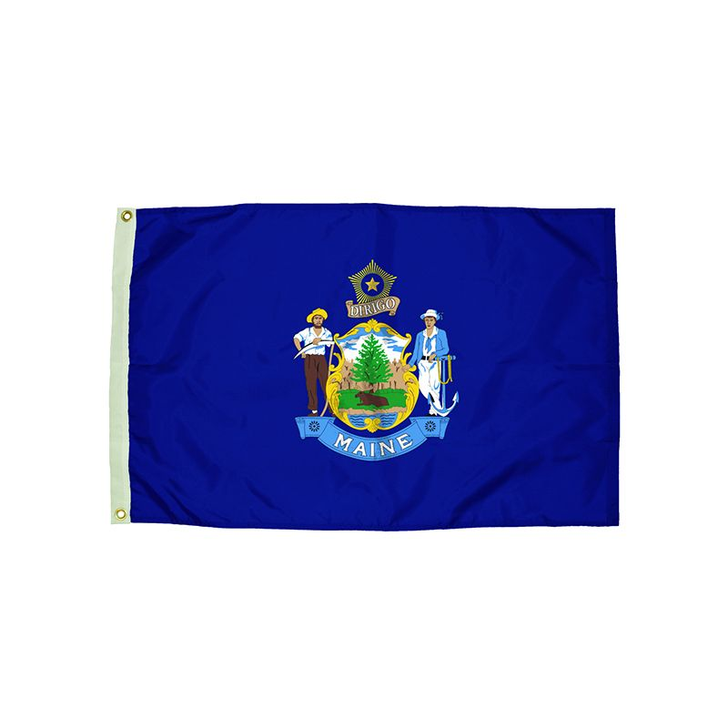 3X5 NYLON MAINE FLAG HEADING &