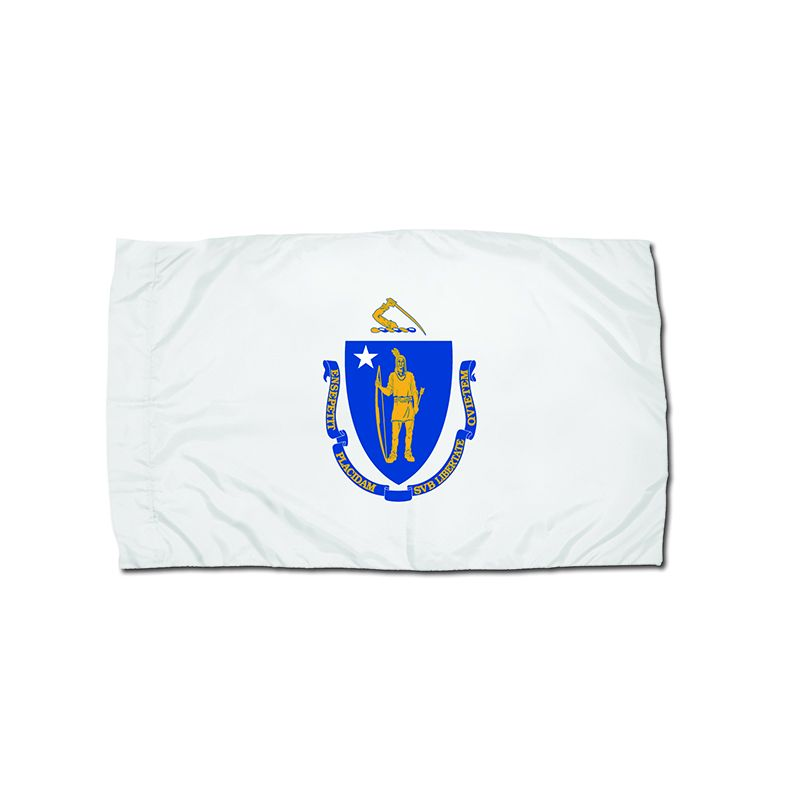 3X5 NYLON MASSACHUSETTS FLAG