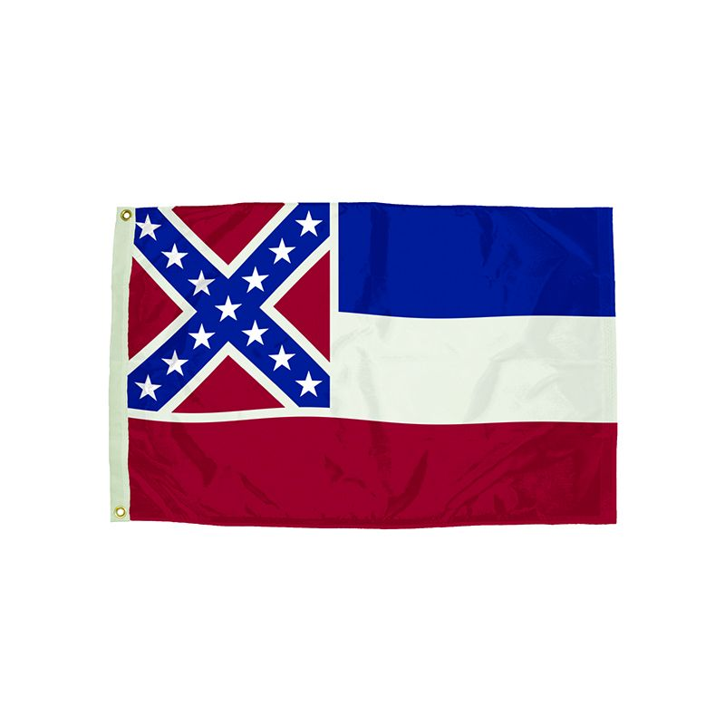 3X5 NYLON MISSISSIPPI FLAG HEADING