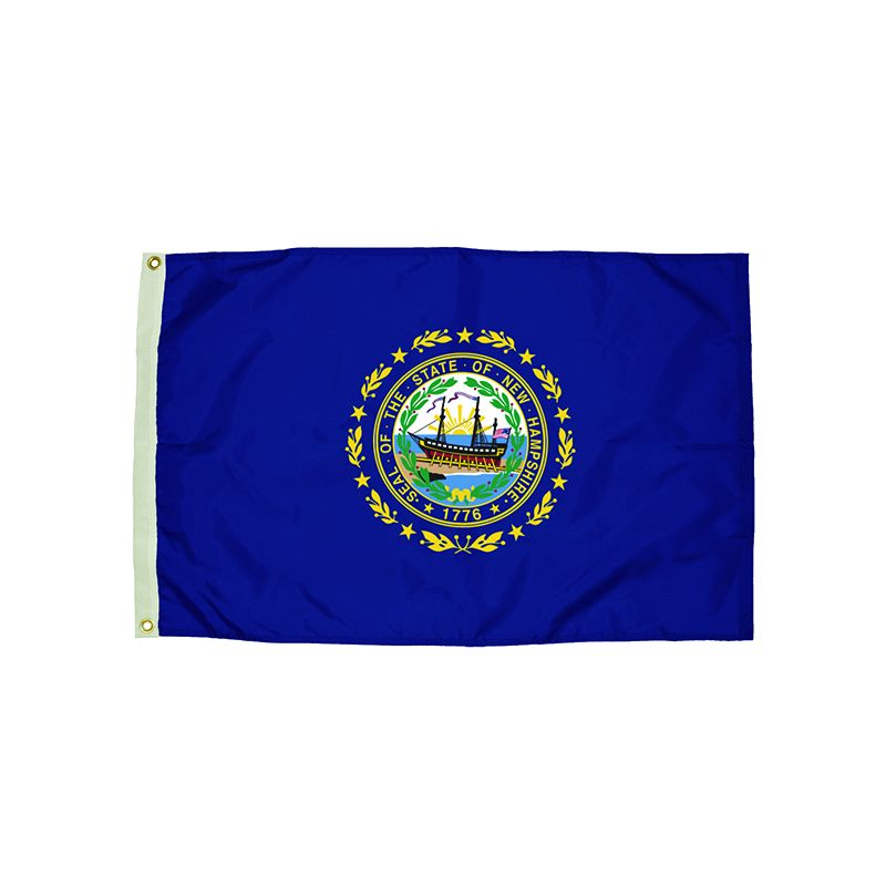 3X5 NYLON NEW HAMPSHIRE FLAG