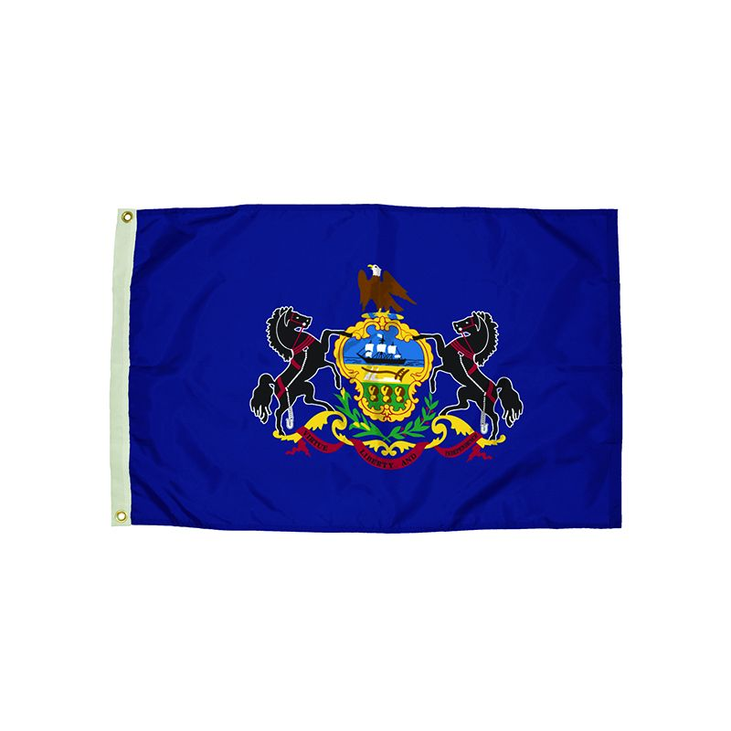 3X5 NYLON PENNSYLVANIA FLAG HEADING