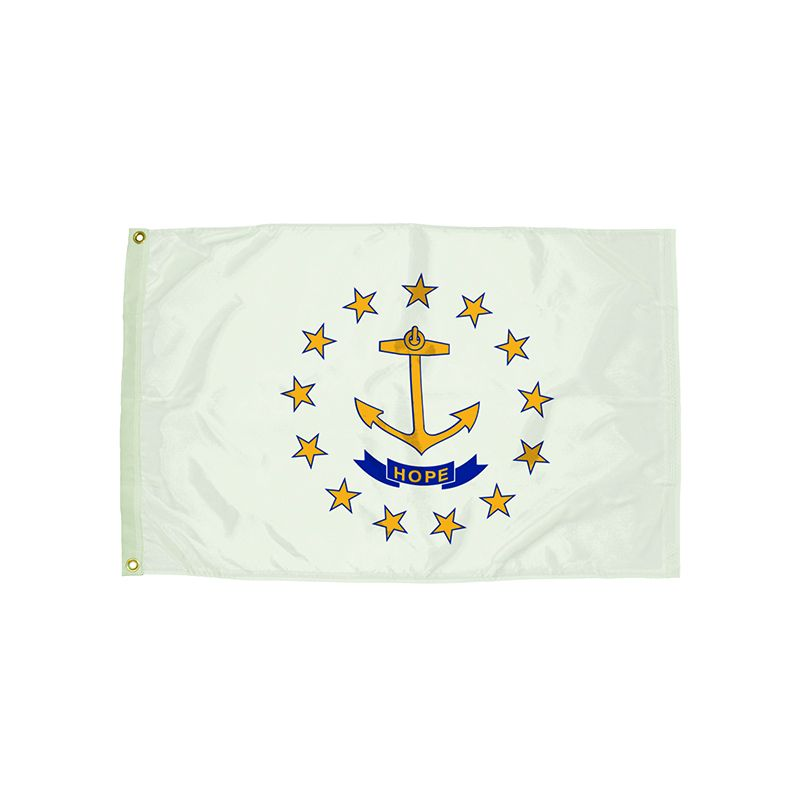 3X5 NYLON RHODE ISLAND FLAG HEADING