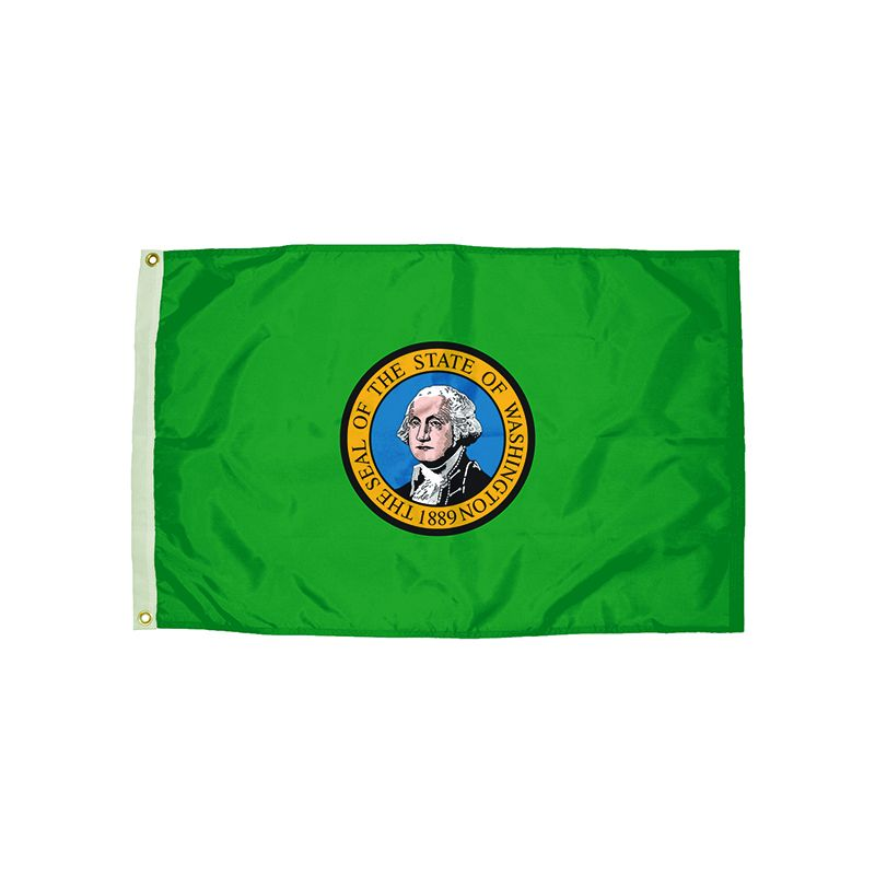 3X5 NYLON WASHINGTON FLAG HEADING