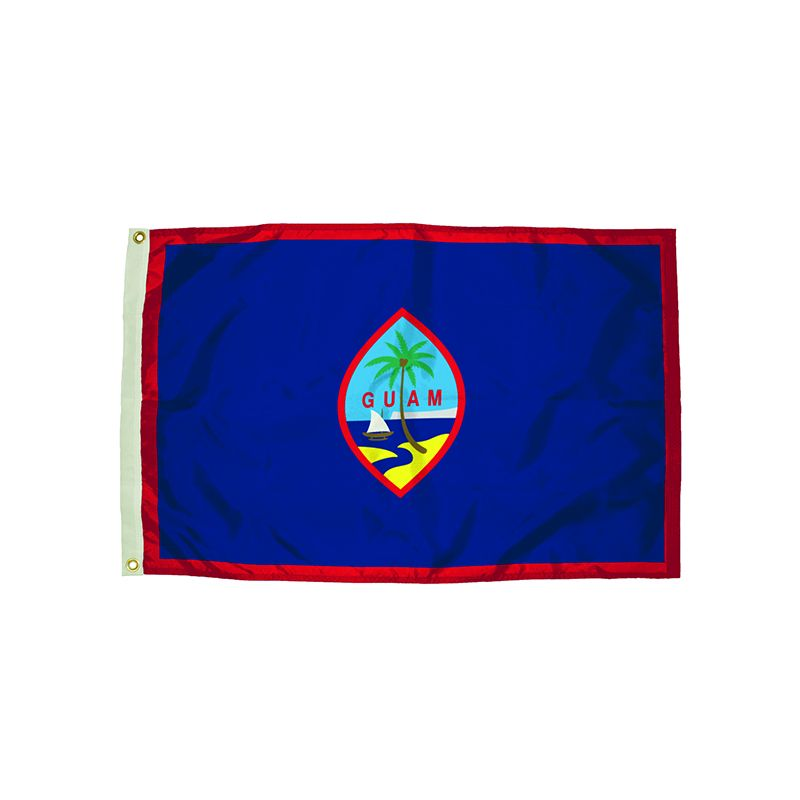 3X5 NYLON GUAM FLAG HEADING &