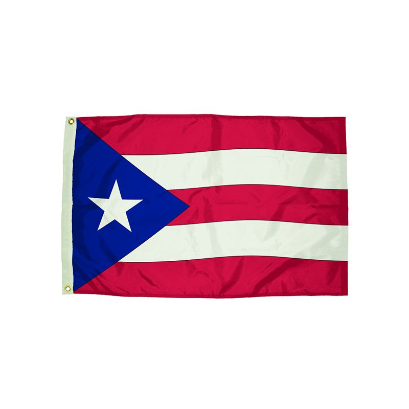 3X5 NYLON PUERTO RICO FLAG HEADING