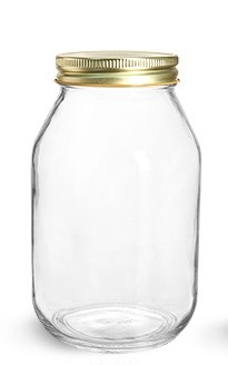 Glass Jar 32oz with cap