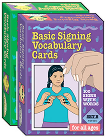 BASIC SIGNING VOCAB CARDS SET A