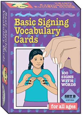 BASIC SIGNING VOCAB CARDS SET B
