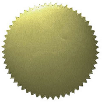 STICKERS GOLD BLANK 50PK 2 DIAMETER