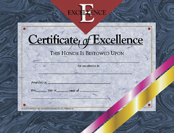 CERTIFICATES OF EXCELLENCE 30 PK