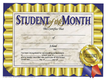 STUDENT OF THE MONTH 30/PK 8.5 X 11