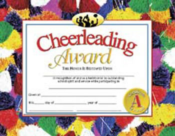 CHEERLEADING AWARD 30PK 8.5 X 11