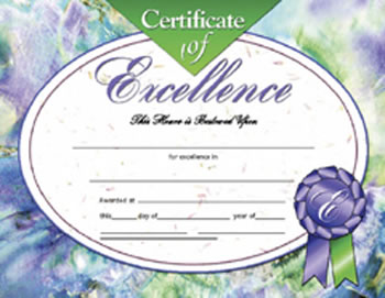 CERTIFICATES OF EXCELLENCE 30/PK