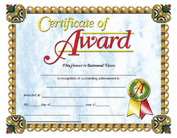 CERTIFICATES OF AWARD 30/PK