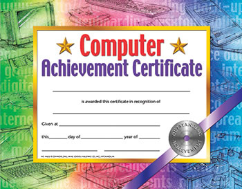 CERTIFICATES COMPUTER SET OF 30