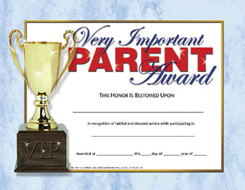 VERY IMPORTANT PARENT AWARD 30-SET