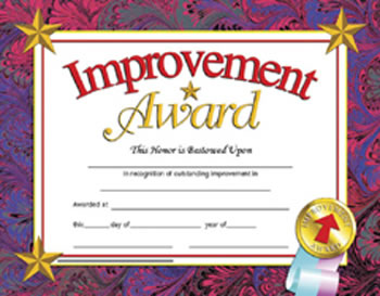 CERTIFICATES IMPROVEMENT 30/PK
