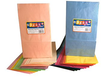 COLORFUL PAPER BAGS PASTEL ASSTD