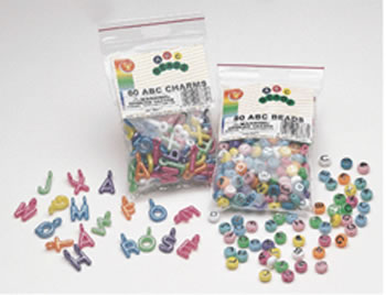 ABC BEADS 80PK FOR ARTS & CRAFT