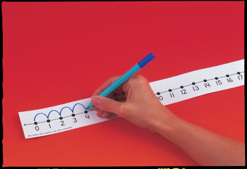 NUMBER LINE STUDENT W/O 12/PK