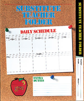 SUBSTITUTE FOLDER ELEM CORKBOARD