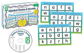 LISTENING LOTTO ALPHABET NAMES &