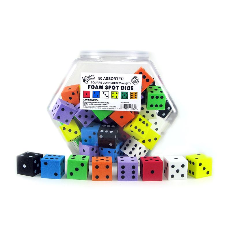 1IN FOAM DOT DICE 50/TUB