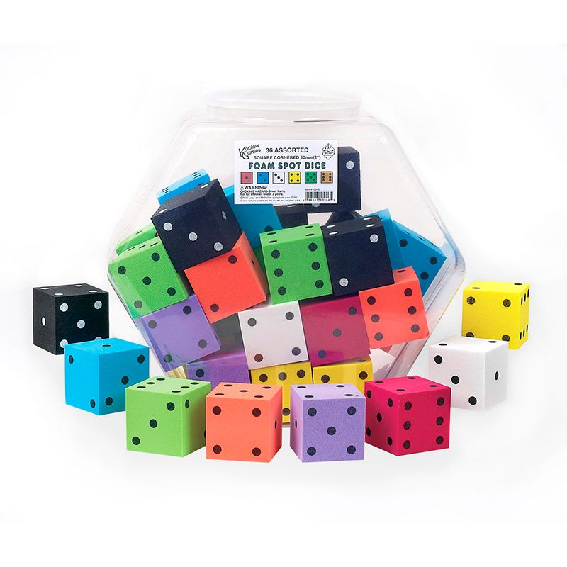2IN FOAM DOT DICE 36/TUB