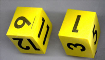FOAM DICE 2 NUMERAL SET OF 2