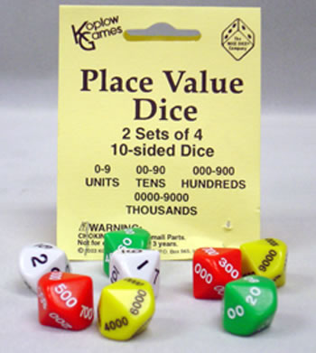 PLACE VALUE DICE