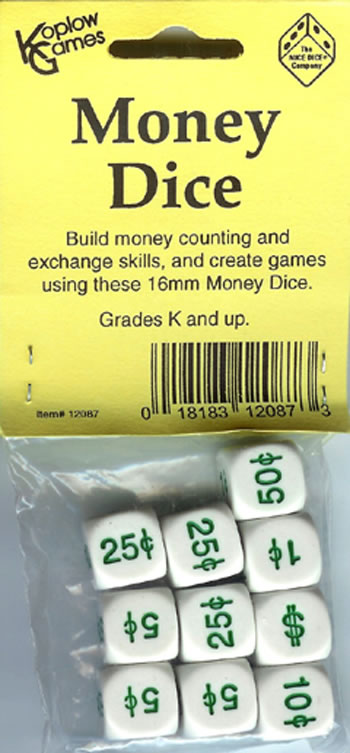 MONEY DICE SET OF 10