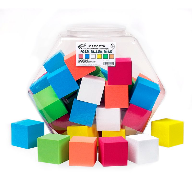 2IN FOAM BLANK DICE 36/TUB