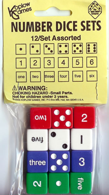 NUMBER DICE SET