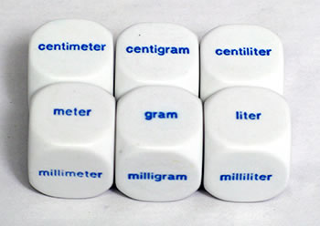 METRIC DICE SET OF 6