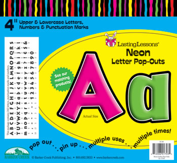 NEON LETTER POP-OUTS