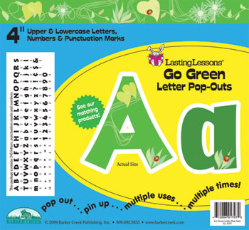 GO GREEN LETTER POP-OUTS