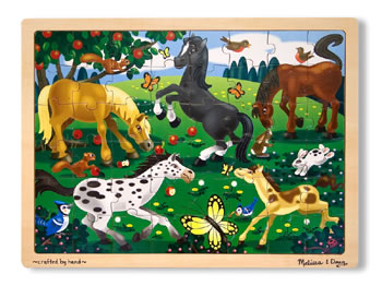 HORSES 48-PC WOODEN JIGSAW PUZZLE