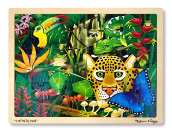 RAIN FOREST 48-PC WOODEN JIGSAW