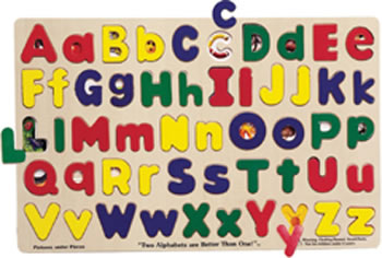 PUZZLE UPPER & LOWERCASE ALPHABET