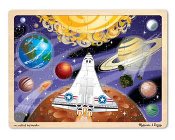 SPACE VOYAGE 48-PIECE WOODEN JIGSAW