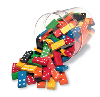 DOMINOES DOUBLE-SIX COLOR BUCKET 6