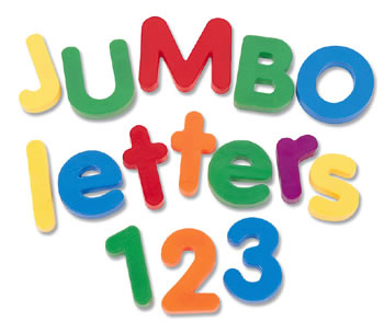 JUMBO MAGNETIC NUMBERS 36/PK