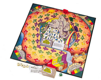 DINO MATH TRACKS BOARD GAME GR 1+