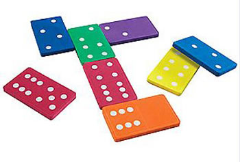 JUMBO FOAM DOMINOES SET OF 28