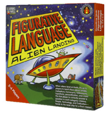 FIGURATIVE LANG ALIEN LANDING RED