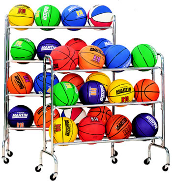 PORTABLE BALL RACK HOLDS 12-3 TIERS