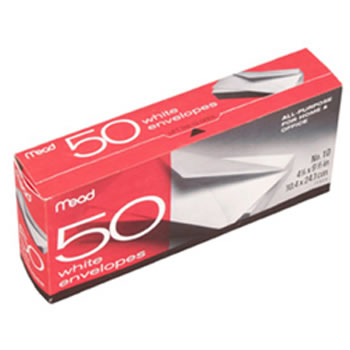 ENVELOPES PLAIN 10LB 50 CT